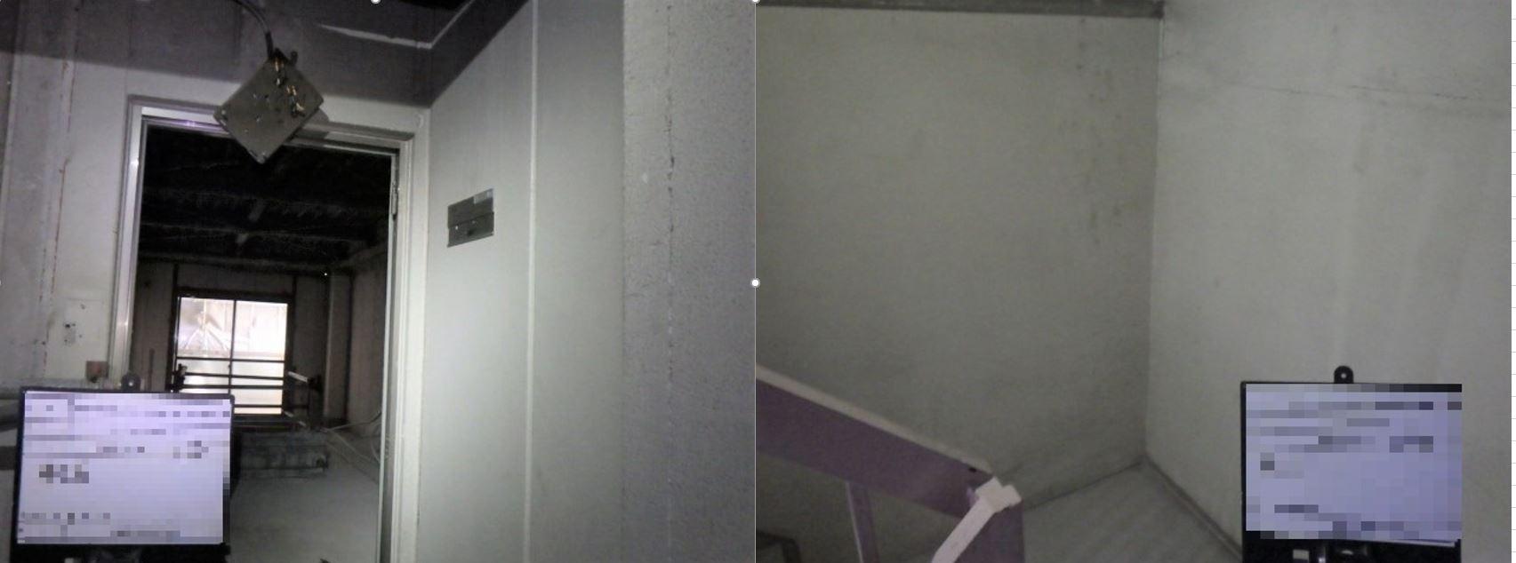 東京都某共同住宅 階段室塗材除去
