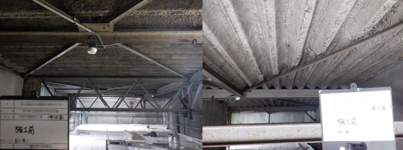 栃木県某製造工場 機械室吹付石綿除去